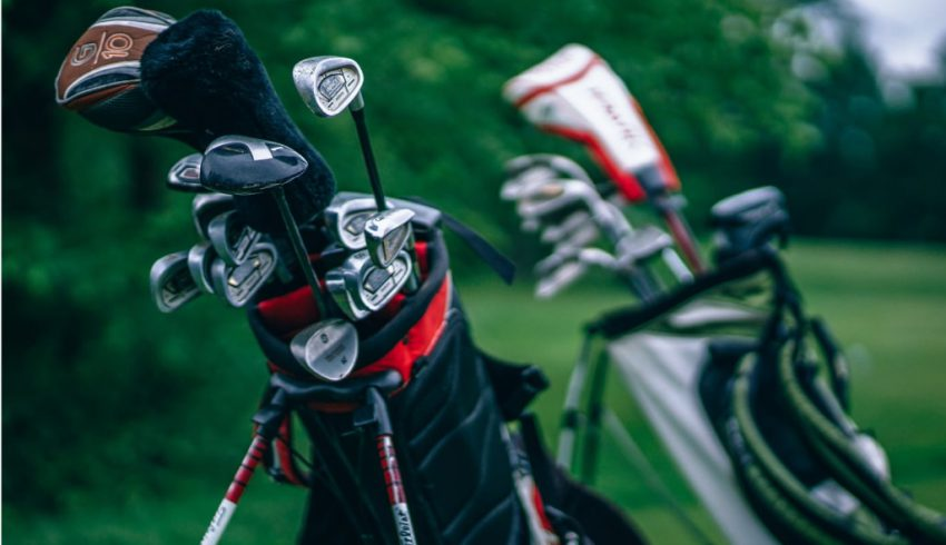 clubs in golf bags