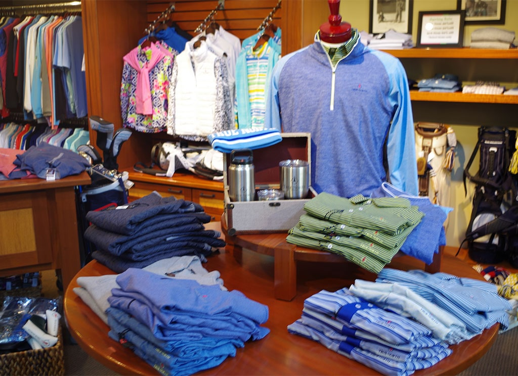 apparel in true north golf shop